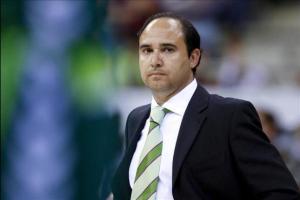 Chus Mateo en su época de entrenador del Unicaja